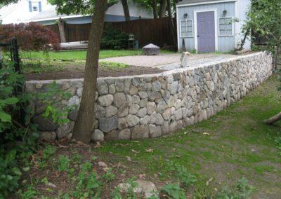 Landscape Wall Installation in Medford MA