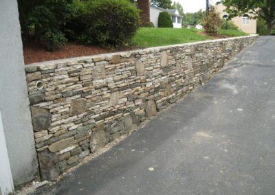 Landscape Wall Installation in Stoneham MA