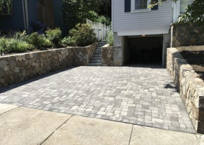 New Driveway Pavers Installed in Woburn MA