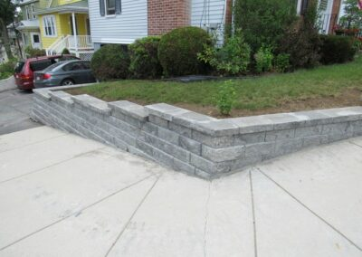 Landscape Wall Installation in Malden MA