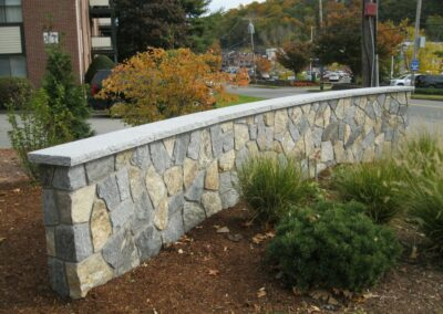 Landscape Wall Installation in Stoneham, MA