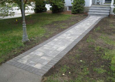 Walkway Installation in Andover MA by Gerrior Masonry