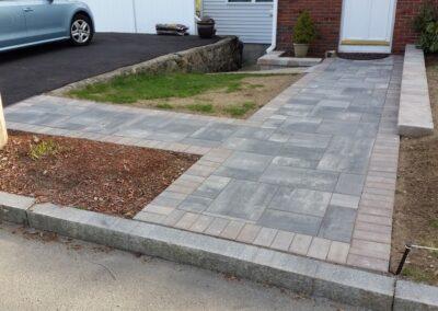 Walkway Installation in Melrose MA by Gerrior Masonry