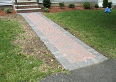 Walkway Installation in Reading MA by Gerrior Masonry