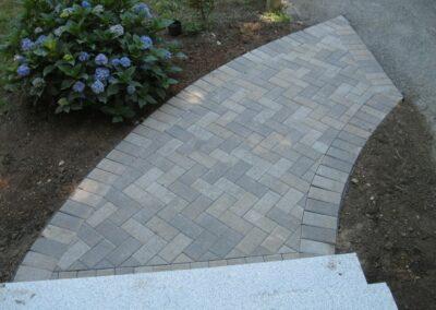Walkway Installation in Stoneham MA by Gerrior Masonry