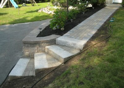 Walkway Installation in Woburn MA by Gerrior Masonry