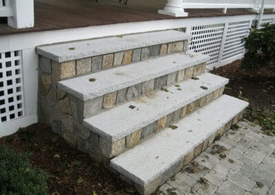 Stone Veneer Square and Rec w Granite Treads