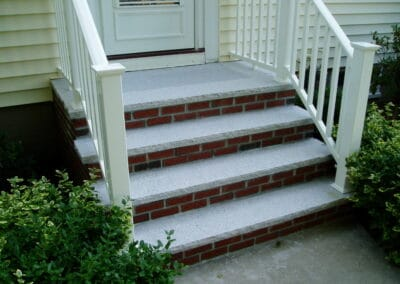 Alt Title Brick Stairs w Granite Treads