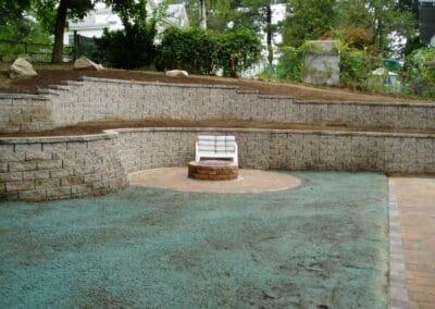 Block Wall Keystone Regalstone in Boston Blend