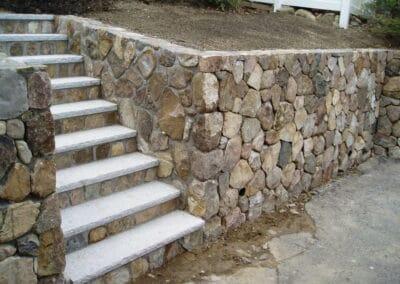 Stone Wall Fieldstone w Concealed Joints