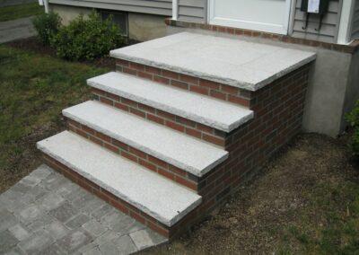 Brick Stairs w Granite Treads