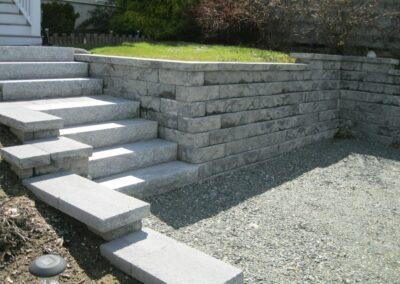 Block Wall Keystone Regalstone in Granite Blend