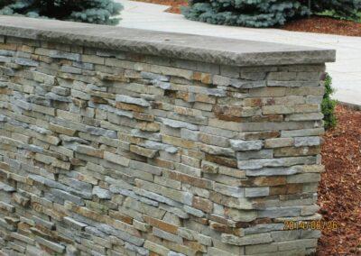 Stone Wall Pennsylvania Flatstone Double Sided
